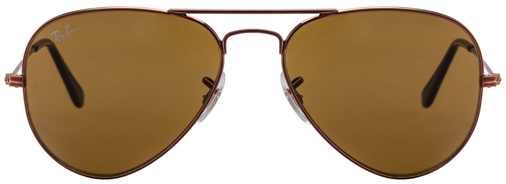 Ray-Ban RB3025 0145 Size:55 Brown Aviator Sunglasses  available at Lenskart for Rs.0