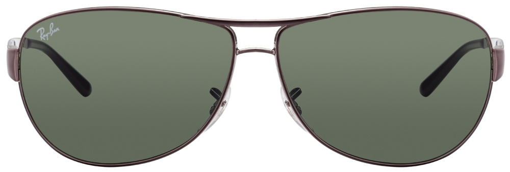 Ray-Ban RB3342 004 Size:63 Gunmetal Grey Men's Metal Sunglasses  available at Lenskart for Rs.0