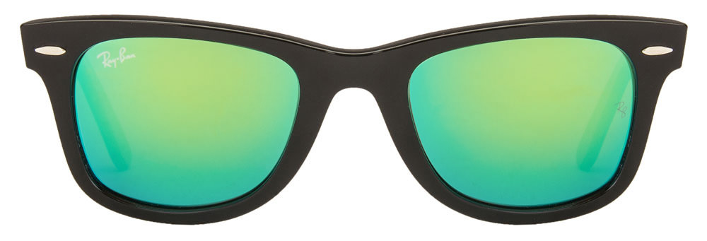 Ray-Ban RB2140 1175/19 Size:50 Black Green Reflector Mirror Wayfarer Sunglasses  available at Lenskart for Rs.0