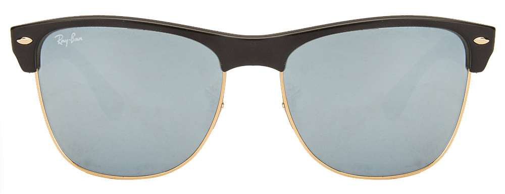 Ray-Ban RB4175 877/30 Size:57 Black Golden Black Silver Reflector Mirror Wayfarer Polarized Men's Sunglasses  available at Lenskart for Rs.0
