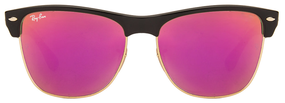 Ray-Ban RB4175 877/4T Size:57 Black Golden Black Purple Reflector Mirror Wayfarer Men's Sunglasses  available at Lenskart for Rs.0