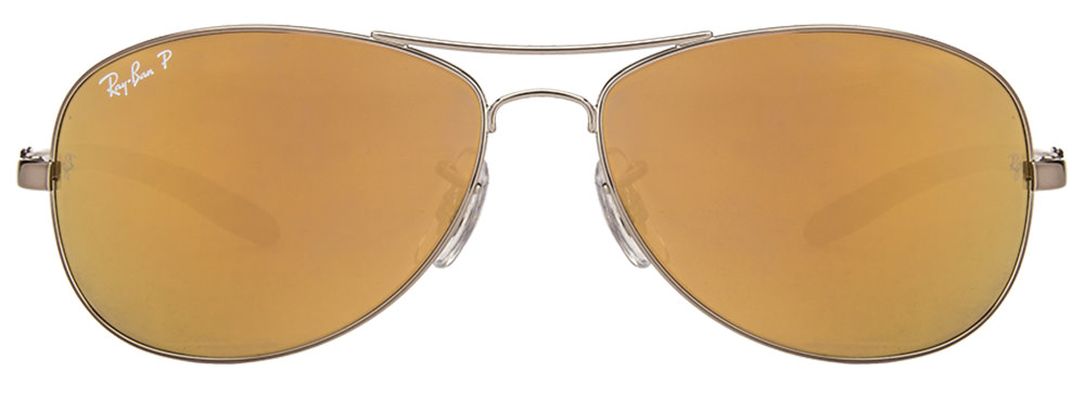 Ray-Ban RB8301 004/N3 Size:59 Silver Grey Brown Reflector Mirror Aviator Polarized Sunglasses  available at Lenskart for Rs.0
