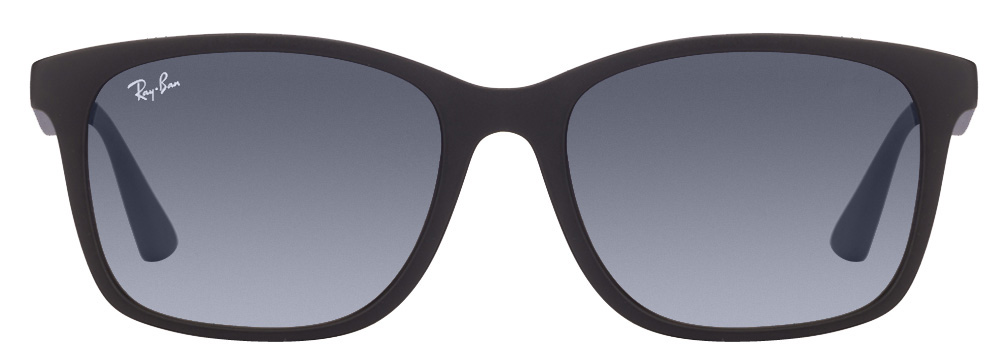 Ray-Ban RB7059 6202/4L Size:55 Matte Black Blue Gradient Wayfarer Sunglasses  available at Lenskart for Rs.0