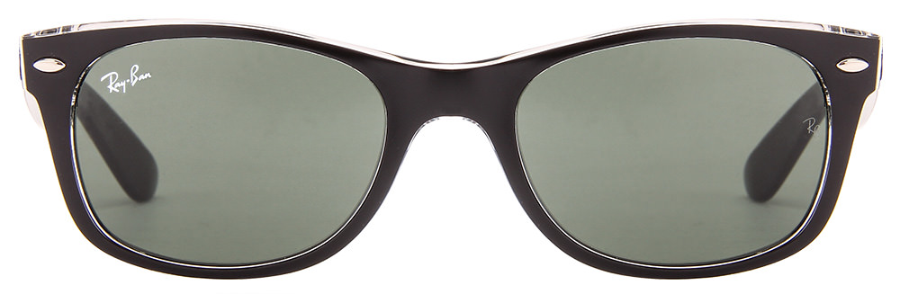 Ray-Ban RB2132 6052 Size:52 Matte Black Transparent Green Wayfarer Sunglasses  available at Lenskart for Rs.0