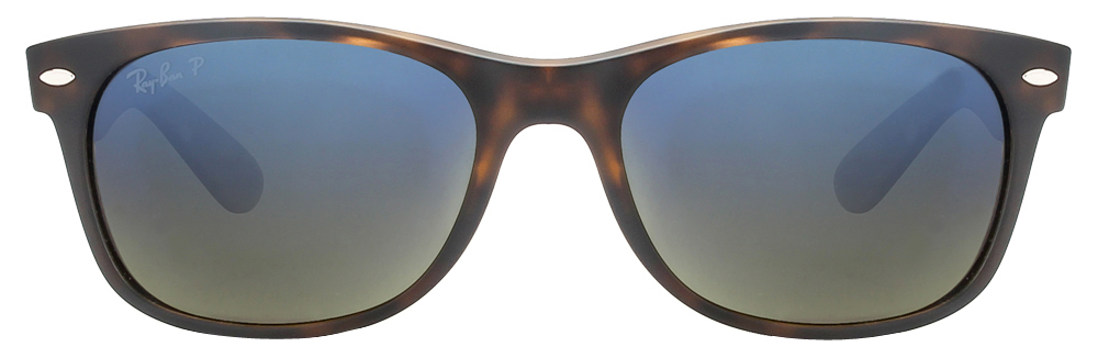 Ray-Ban RB2132 894/76 Size:55 Matte Tortoise Blue Gradient Reflector Mirror Wayfarer Polarized Sunglasses  available at Lenskart for Rs.0