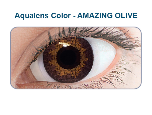 Aqualens amazing olive color contact lens (1 lens/box/Plano)  available at Lenskart for Rs.0