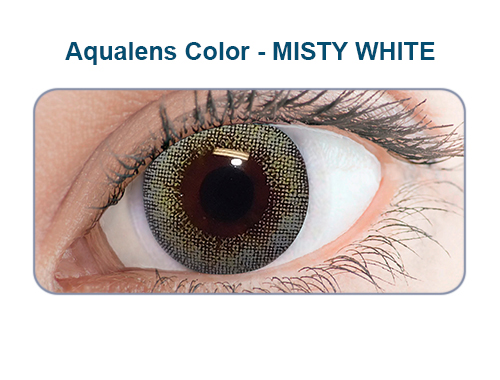 Aqualens misty white color contact lens (1 lens/box/Plano)  available at Lenskart for Rs.0