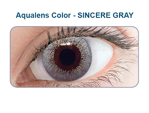 Aqualens sincere gray color contact lens (1 lens/box/Plano)  available at Lenskart for Rs.0