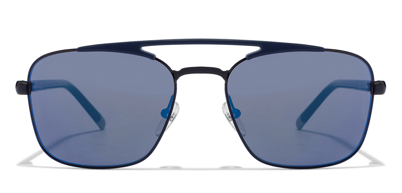 Calvin klein CK1221S Size-55 Blue Black Blue Mirror 001 sunglasses  available at Lenskart for Rs.0