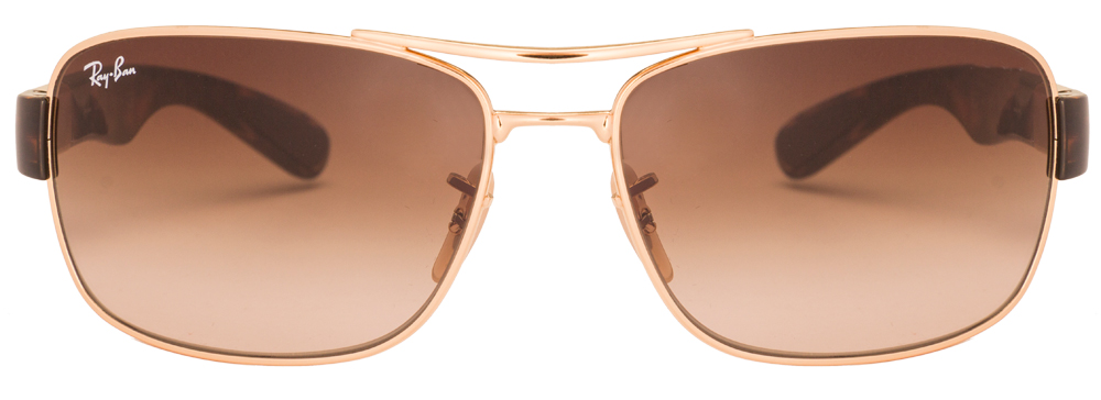 Ray-Ban RB3522 Size:61 Golden Tortoise Brown Gradient 001/13 Men's Sunglasses  available at Lenskart for Rs.0