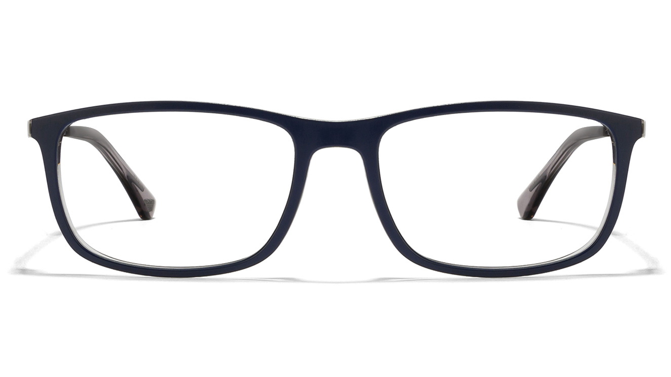 Emporio Armani EA3070 Size-54 Blue Grey Transparent Grey 5469 Eyeglasses  available at Lenskart for Rs.0