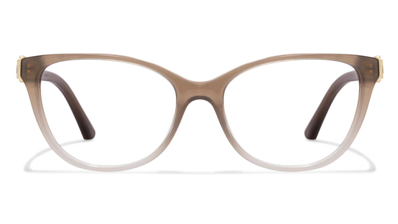 Emporio Armani EA3077 Size:52 Brown Transparent 5458 Women's Eyeglasses  available at Lenskart for Rs.0