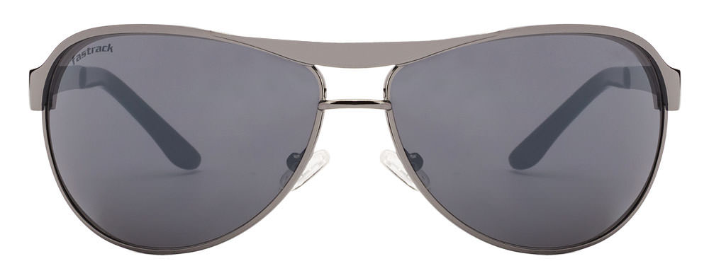 Fastrack M035BK7 Gunmetal Grey Aviator Polarized sunglasses  available at Lenskart for Rs.0