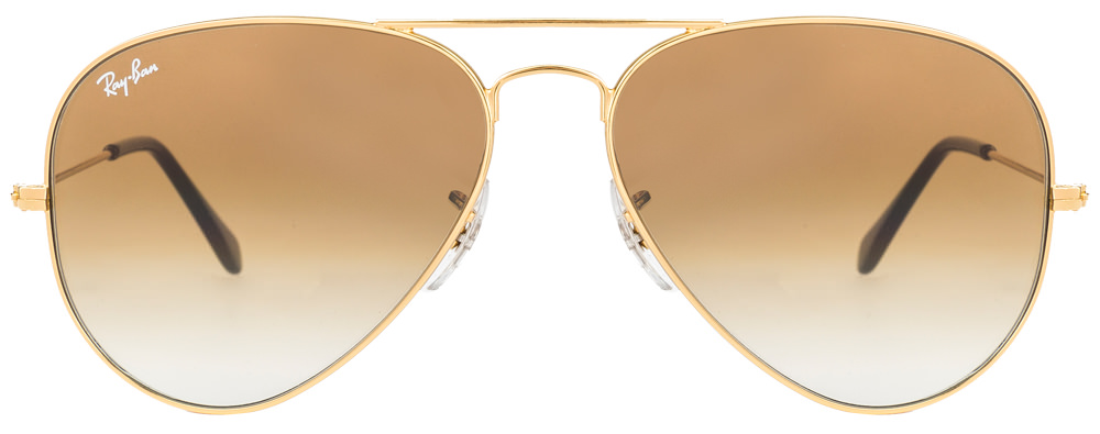 Ray-Ban RB3025 001/51 Size:58 Golden Brown Gradient Aviator Sunglasses