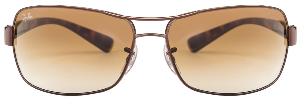 Ray-Ban RB3379 014/51 Size:64 Brown Men Metal Sunglasses