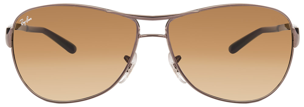 Ray-Ban RB3342 004/51 Size-63 Gunmetal Faded Brown Gradient Warrior Sunglasses  available at Lenskart for Rs.0