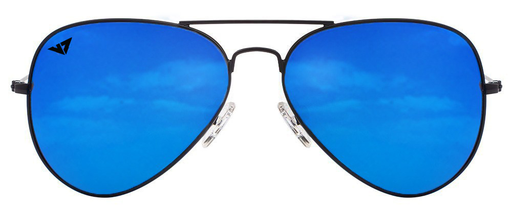 Vincent Chase VC 5158 Black Blue Mirror 1120/U1 Aviator Sunglasses