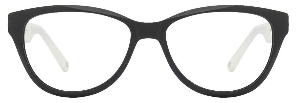 John Jacobs Marine Drive JJ4356 Matte Black White C3 Women's Eyeglasses  available at Lenskart for Rs.0