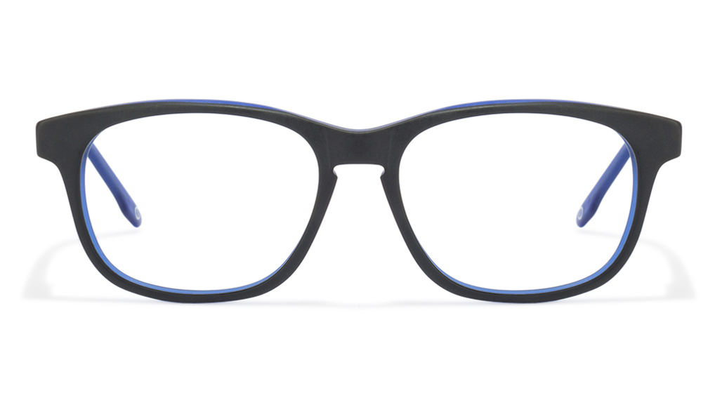 John Jacobs Impressionist JJ 1353 Matte Black Blue UOUOEO Wayfarer Eyeglasses  available at Lenskart for Rs.0