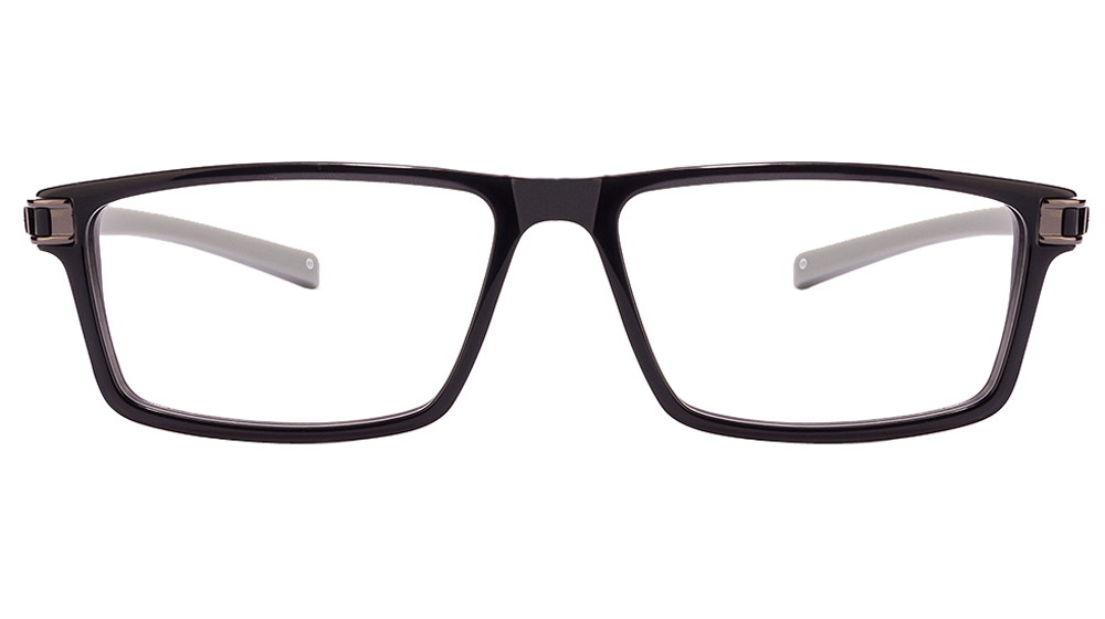 John Jacobs Khardung-La JJ 1448 Black Grey Black Line C3 Eyeglasses  available at Lenskart for Rs.0