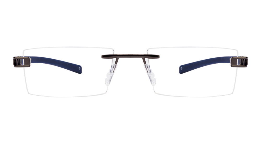 John Jacobs Khardung-La JJ 1449 Gunmetal Blue Black Line C2 Eyeglasses  available at Lenskart for Rs.0