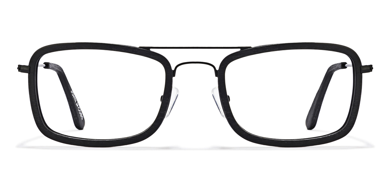 John Jacobs Madison Avenue JJ 2186 Matte Black Wooden C1 Eyeglasses  available at Lenskart for Rs.0