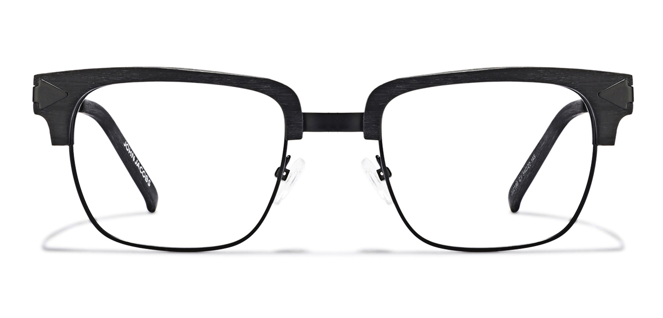 John Jacobs Madison Avenue JJ 2188 Matte Black Wooden C1 Clubmaster Eyeglasses  available at Lenskart for Rs.0