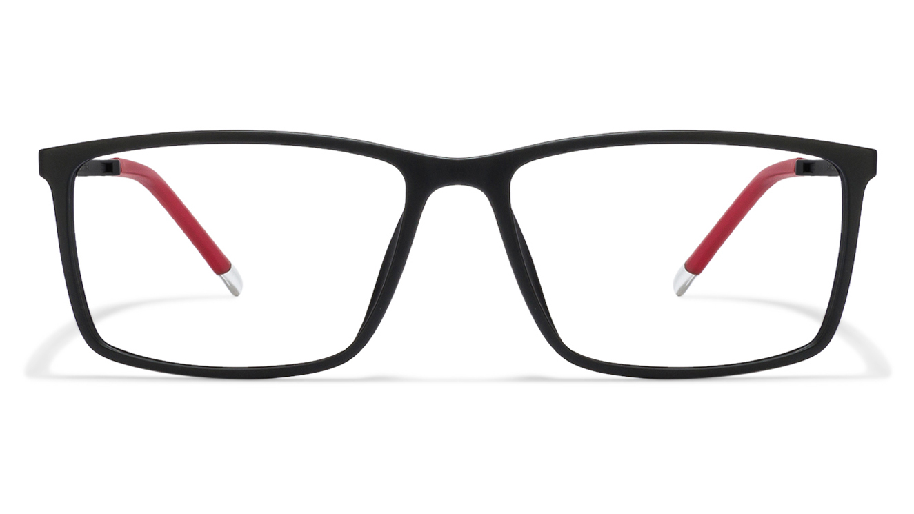 John Jacobs Marine Drive JJ 4463 Matte Black Red C1 Eyeglasses  available at Lenskart for Rs.0