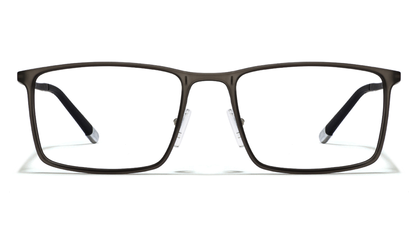 John Jacobs Marine Drive JJ 4466 Matte Grey Transparent Black C4 Eyeglasses  available at Lenskart for Rs.0