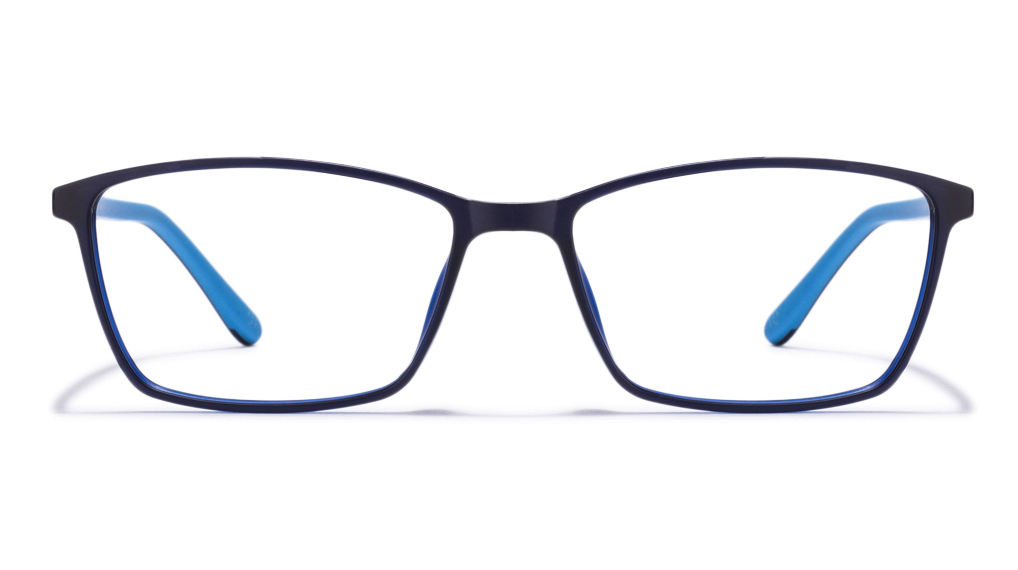 John Jacobs Marine Drive JJ 2240 Matte Black Blue Sky Blue C4 Eyeglasses  available at Lenskart for Rs.0
