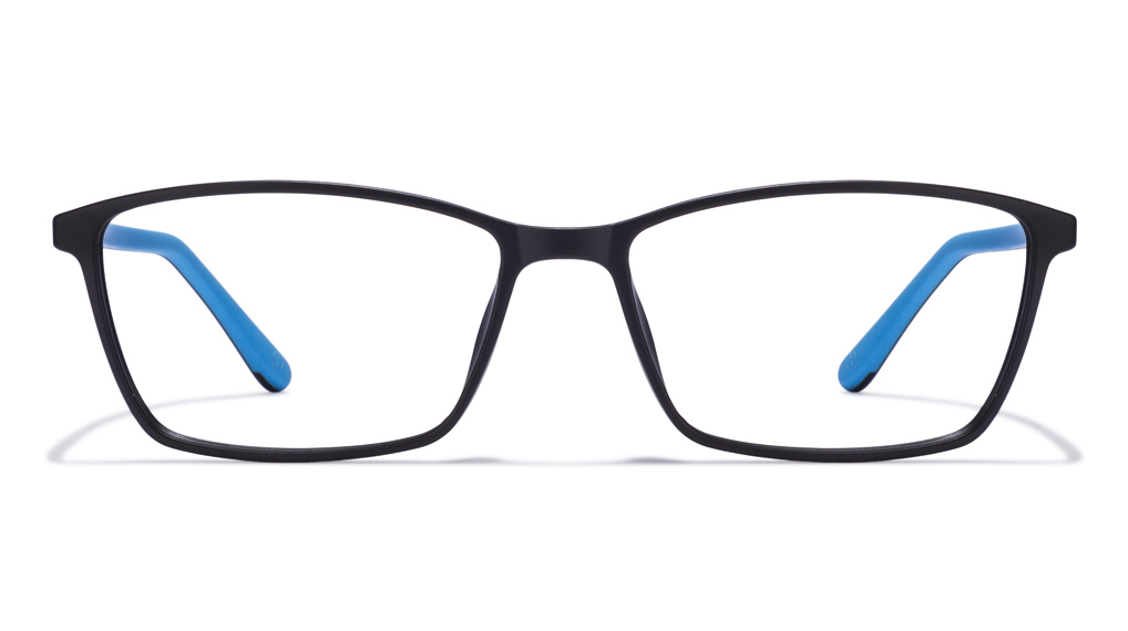 John Jacobs Marine Drive JJ 2240 Matte Black Sky Blue C2 Eyeglasses  available at Lenskart for Rs.0