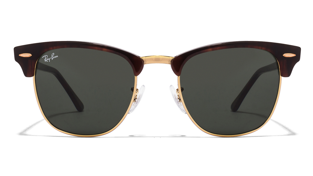 Ray-Ban RB3016 W0366 Size:51 Tortoise Green Clubmaster Wayfarer Men's Sunglasses  available at Lenskart for Rs.0