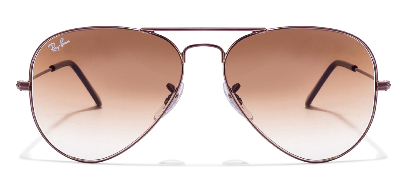 Ray-Ban RB3025 004/51 Size:55 Gunmetal Brown Gradient Aviator sunglasses  available at Lenskart for Rs.0