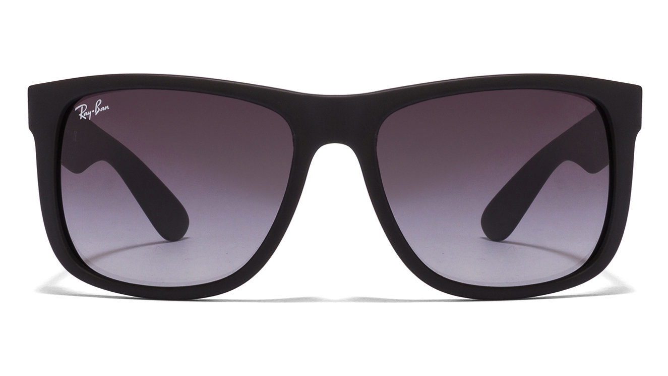 Ray-Ban RB4165 601/8G Size:55 Matt Black Black Gradient Wayfarer Men's Sunglasses  available at Lenskart for Rs.0