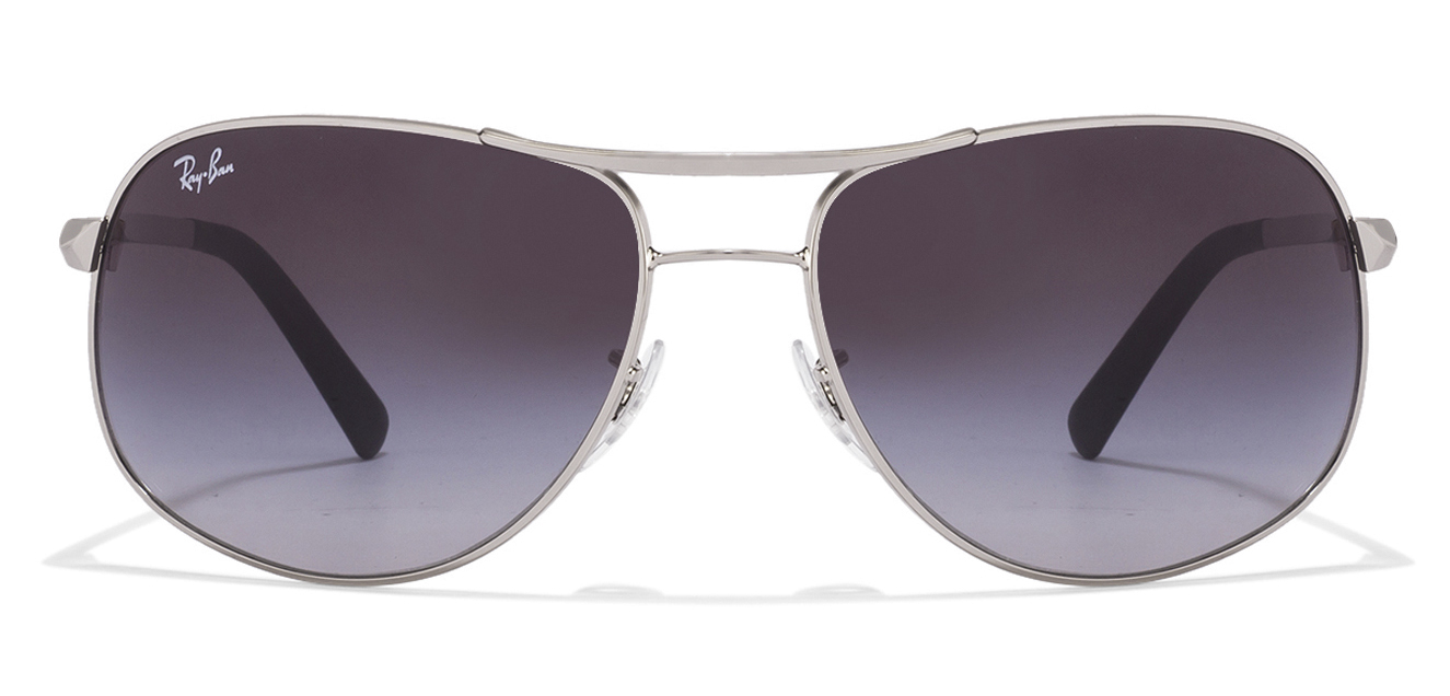 Ray-Ban RB3387 003/8G Size:64 Silver Grey Gradient Men's Sunglasses  available at Lenskart for Rs.0