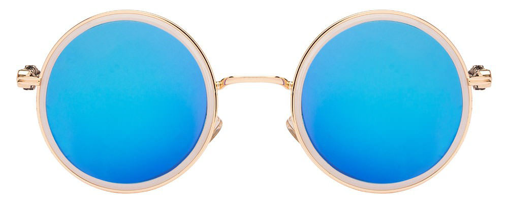 Vincent Chase Le Cirque S870-2 Golden Blue Reflector Mirror C76 Women's sunglasses  available at Lenskart for Rs.0
