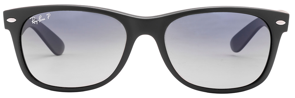 Ray-Ban RB2132 601S78 Size:55 Matt Black Blue Gradient Wayfarer Men's Sunglasses  available at Lenskart for Rs.0