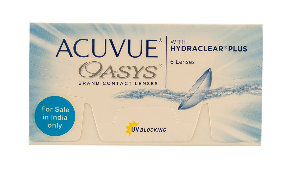 Johnson & Johnson ACUVUE OASYS with HYDRACLEAR Plus - Only Minus Power (6 Lenses/box)