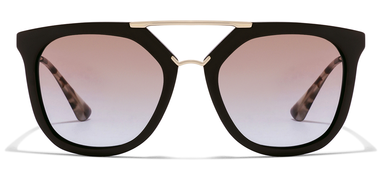 Prada PR13QS Size:54 Golden Brown Tortoise Gradient DHO-4S2 Wayfarer Women's sunglasses  available at Lenskart for Rs.0