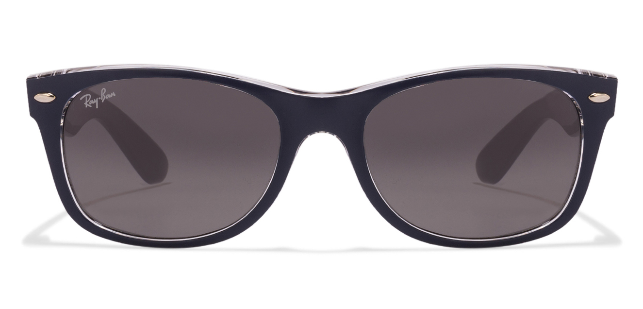 Ray-Ban 0RB2132 Size:52 Matt Blue On Crystal Gradient Gray 605371 Wayfarer Sunglasses  available at Lenskart for Rs.0