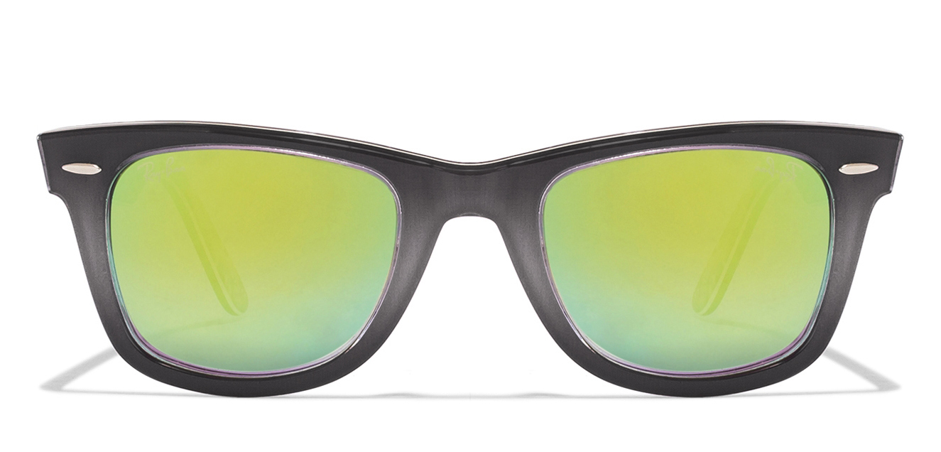 Ray-Ban RB2140 Size-50 Blue Grey Design Black Design Blue Yellow Mirror 1199/4J Wayfarer Sunglasses  available at Lenskart for Rs.0