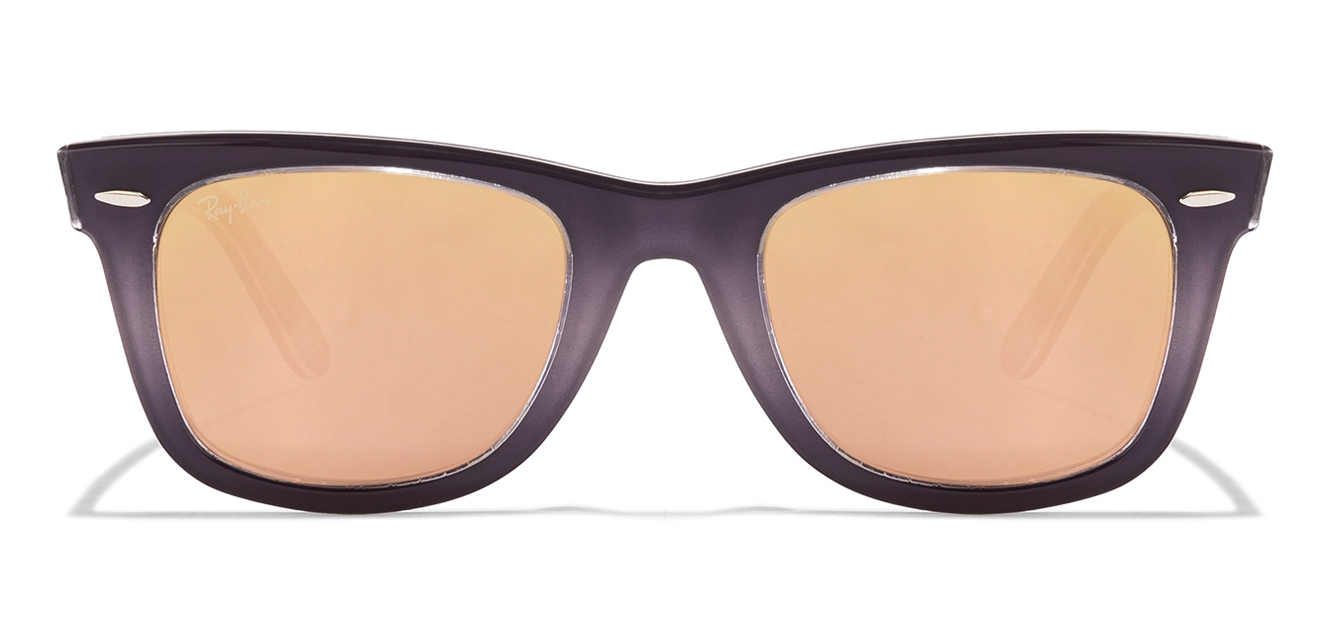 Ray-Ban RB2140 Size-50 Blue Grey Design Black Design Brown Mirror 1201/Z2 Wayfarer Sunglasses  available at Lenskart for Rs.0
