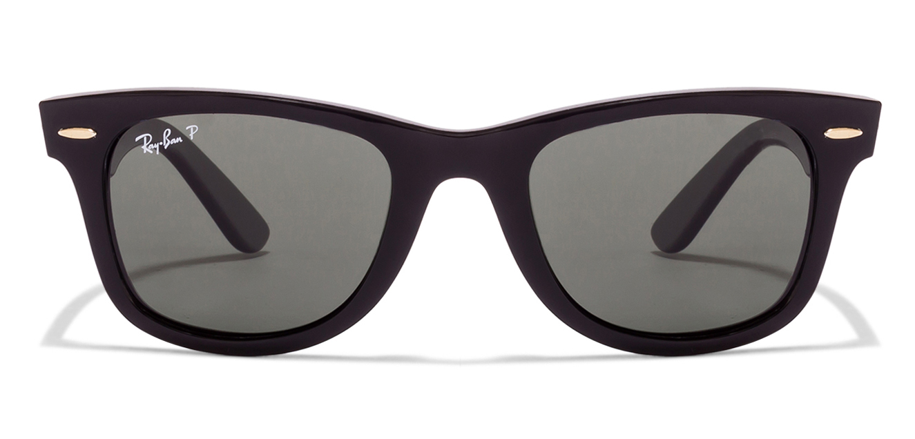 Ray-Ban RB2140 901/58 Size:50 Black Green Wayfarer Polarized Sunglasses  available at Lenskart for Rs.0