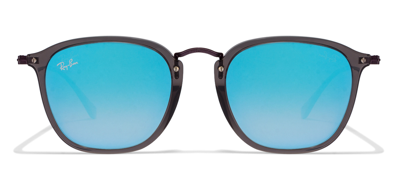 Ray-Ban RB2448 Size:51 Purple Grey Sky Blue Mirror 6255/40 Wayfarer Sunglasses  available at Lenskart for Rs.0