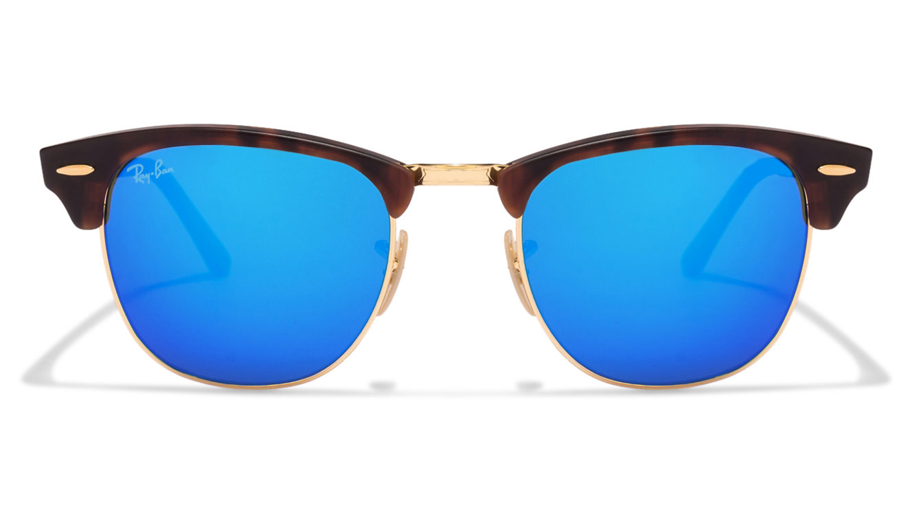 Ray-Ban RB3016 1145/17 Size-51 Golden Tortoise Blue Mirror Wayfarer Sunglasses  available at Lenskart for Rs.0