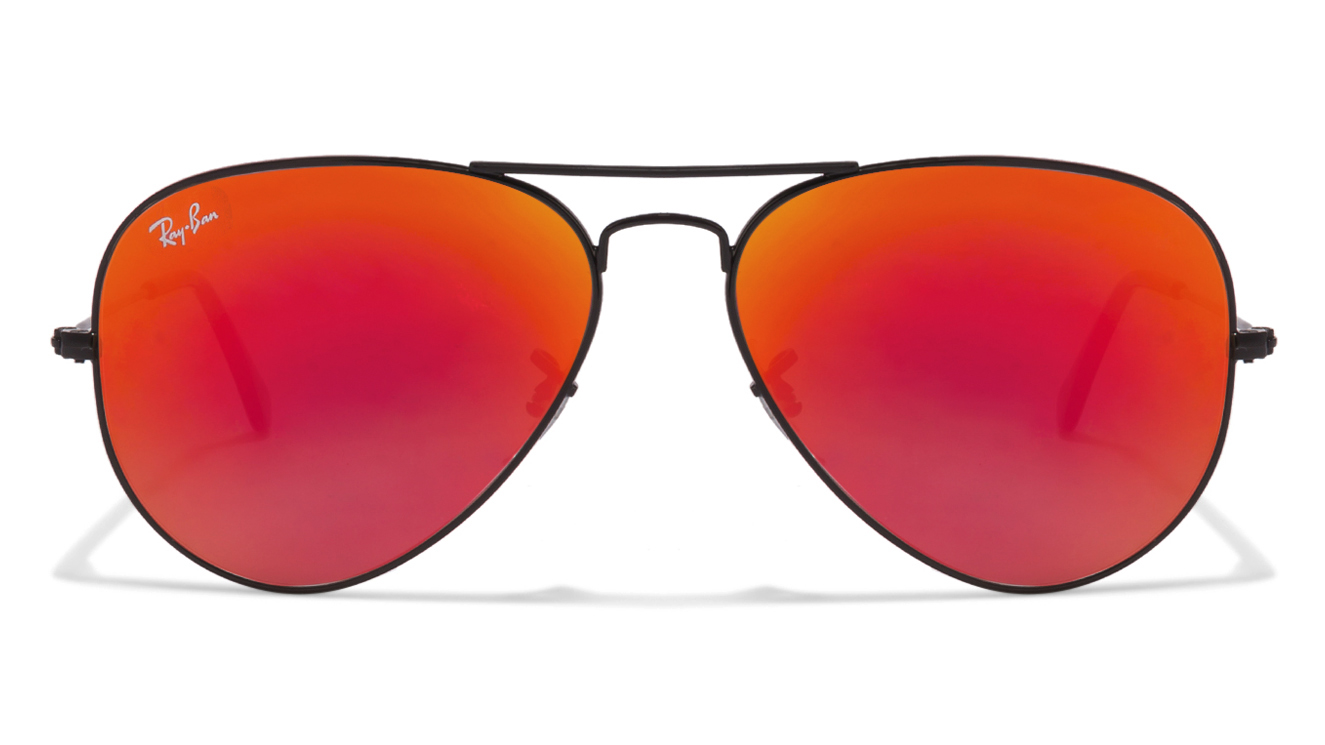 Ray Ban RB3025 Black Red Mirror Size: 58 002/4W Aviator Sunglasses  available at Lenskart for Rs.0