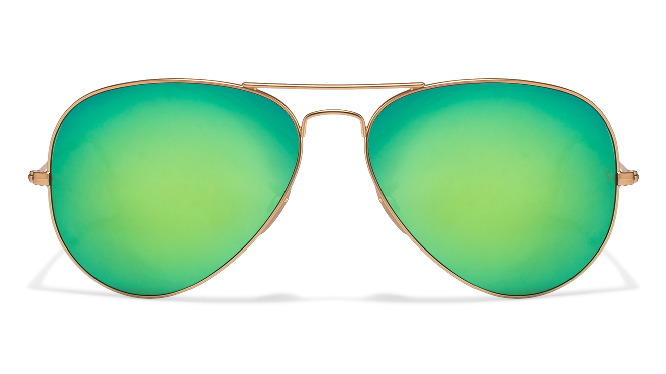 Ray-Ban RB3025 Size-62 Golden Green Yellow Mirror 112/19 Aviator Sunglasses  available at Lenskart for Rs.0