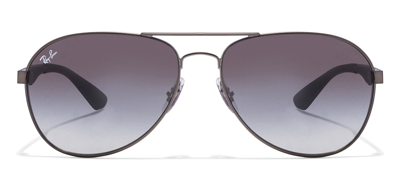 Ray-Ban RB3549 029/11 Size-61 Gunmetal Grey Gradient Aviator Sunglasses  available at Lenskart for Rs.0