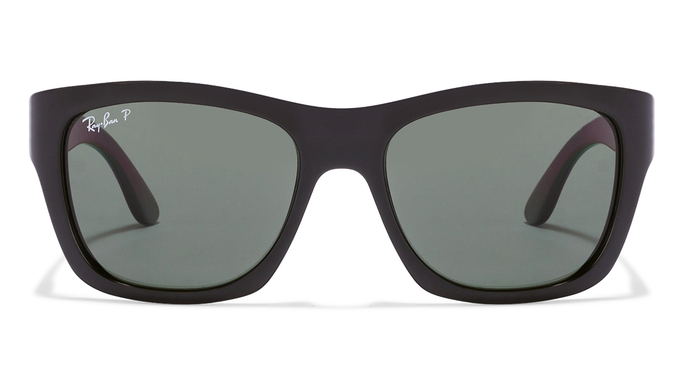 Ray-Ban RB4194 601/9A Size:53 Black Green Wayfarer Sunglasses  available at Lenskart for Rs.0