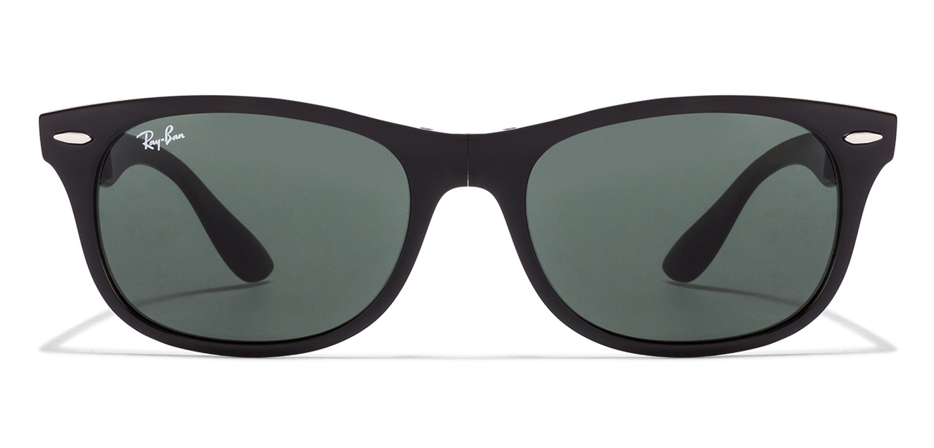 Ray-Ban RB4223 Black Green 601/71 Size-55 Wayfarer Sunglasses  available at Lenskart for Rs.0